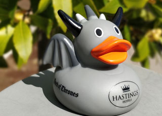 Meet the Duck of Thrones - available to our Game of Thrones tour guests at Ballygally Castle