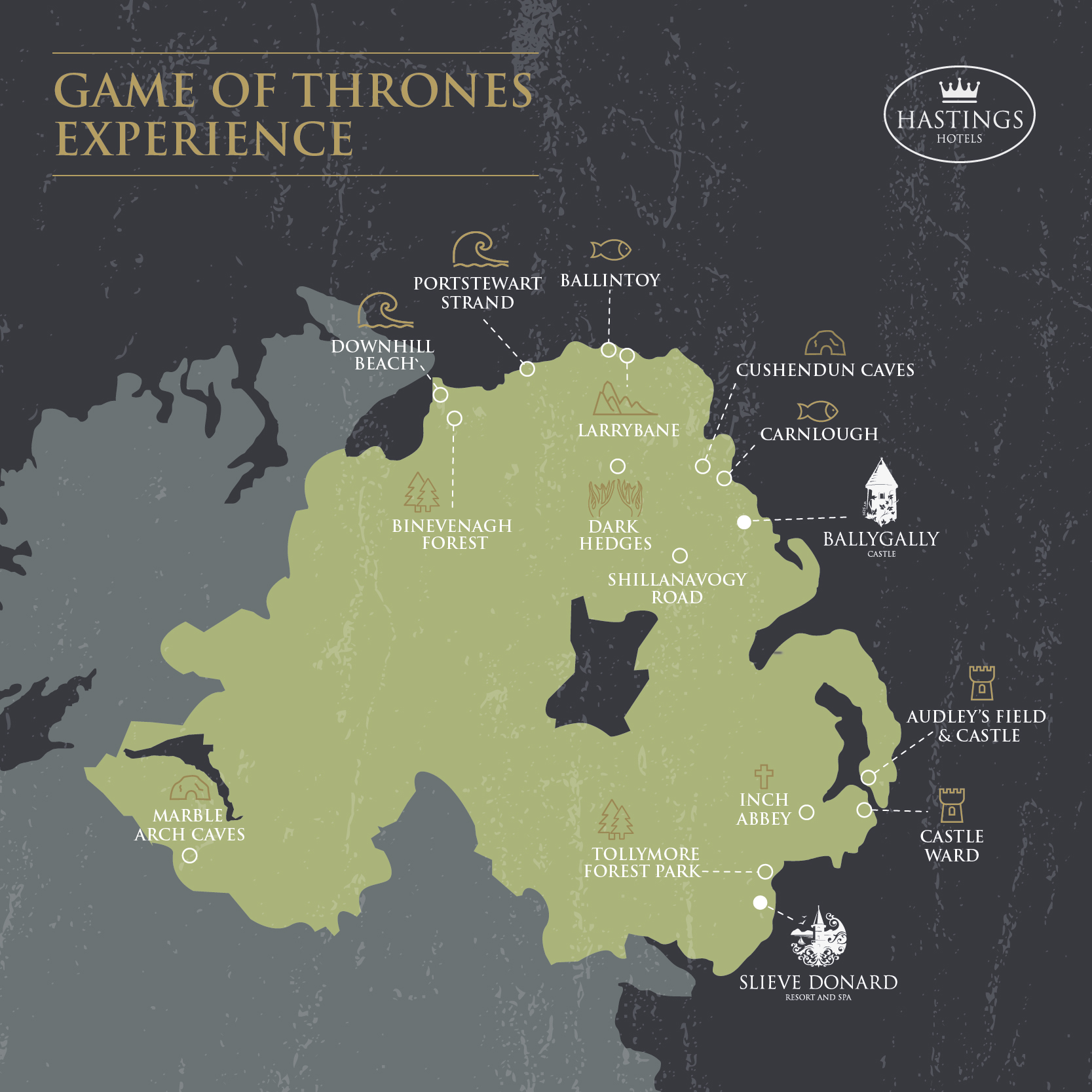 Game of Thrones locations Belfast | Ballygally Castle | Co. Antrim ...