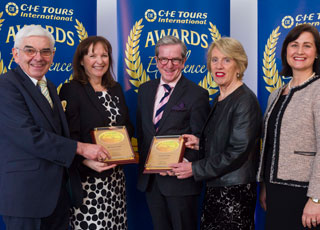 James McGinn accepting Award of Execellence from CIE Tours