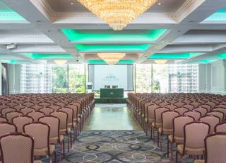Tne new Grand Ballroom can accommodate up to 600 guests for special events.