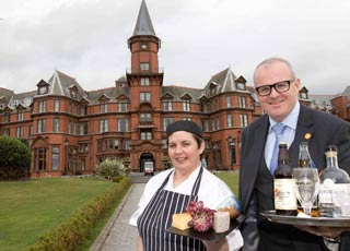 Hazel Magill and Stephen Meldrum launch the 2018 Beer, Cider and Spirit Festival at Slieve Donard