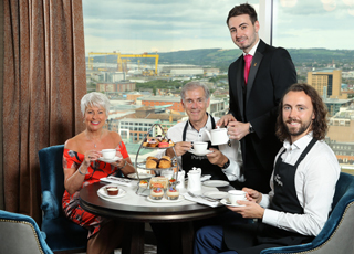 Enjoy Afternoon Tea at new heights in the Observatory at Grand Central Hotel